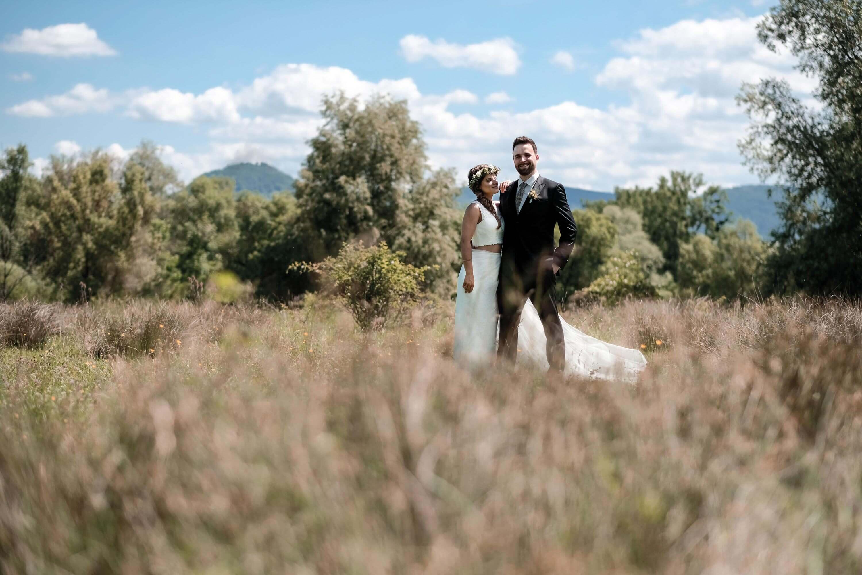 zwei teiler Brautkleid