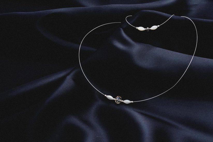 dezente Halskette für die Braut