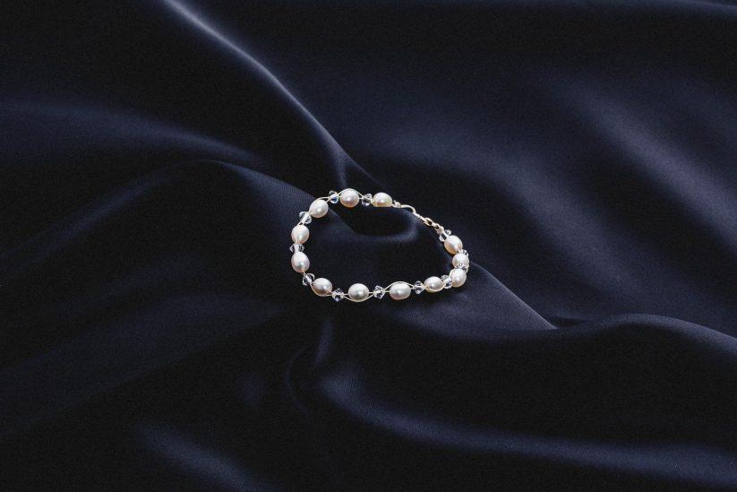 Brautschmuck perlen Armband