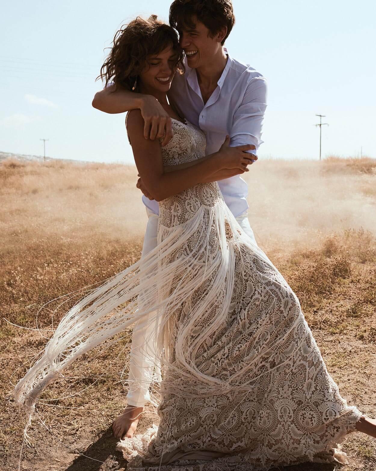 Boho Brautkleid Hochzeitskleid