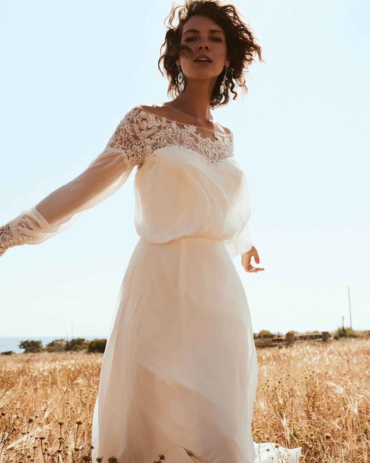 Vintage Brautkleid im Sommer