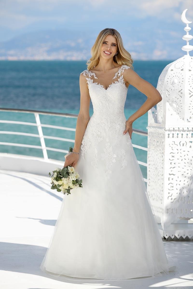 A-Linie Hochzeitskleid auf Schiff