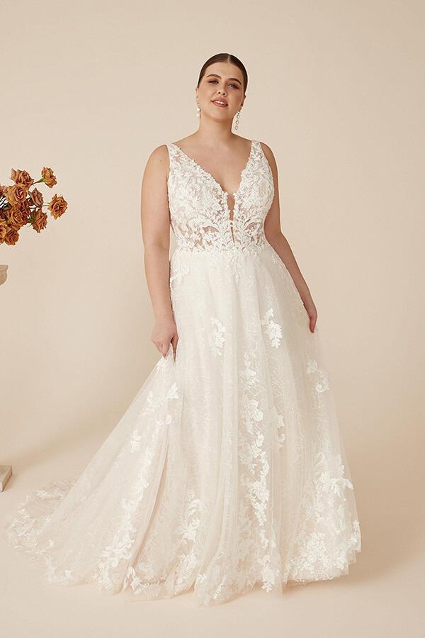 Justin Alexander Hochzeitskleid Catalina 2022 Curvy