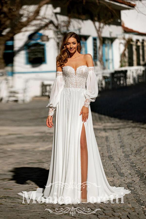 Monica Loretti Vintage Hochzeitskleid 2022